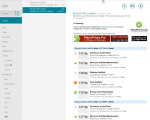 Windows 8 Mail界面