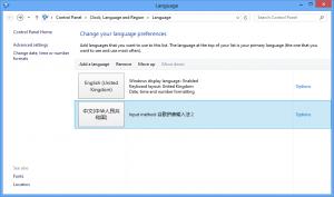 Win8中的语言选项